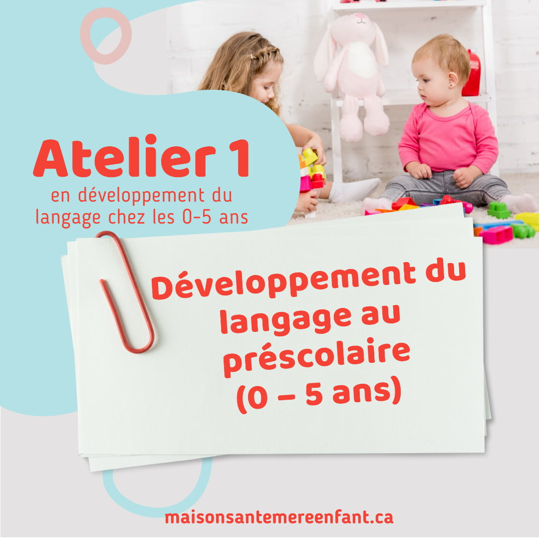 Ateliers individuel 1 - 0 - 5 ans