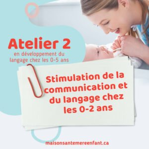 Ateliers individuel 2 - 0 - 5 ans
