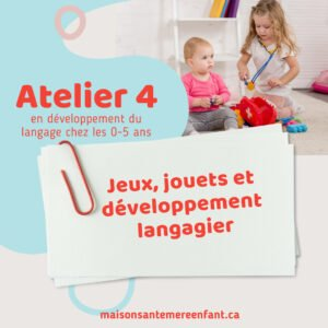 Ateliers individuel 4 - 0 - 5 ans