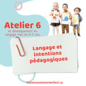 Ateliers individuel 6 - 0 - 5 ans